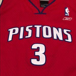 quality design c6881 dad29 Vintage Detroit Pistons Jersey
